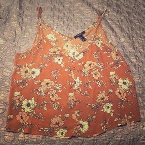 F21 Floral 'cropped' Tanktop 🌸🌼